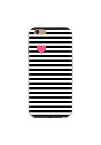Pink heart iPhone hoesje