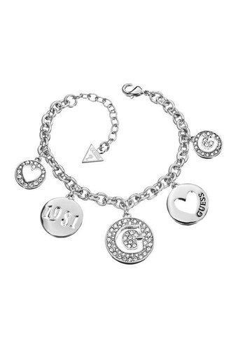 GUESS Heart coin armband UBB51430