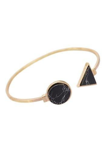 Marble stone bangle black