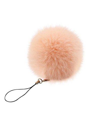 Pompom sleutelhanger roze