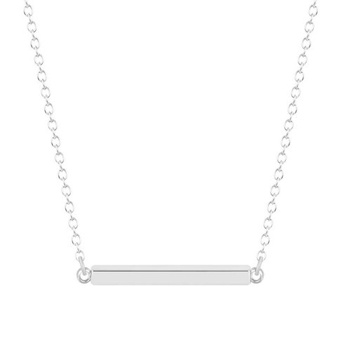 Staafje ketting zilver