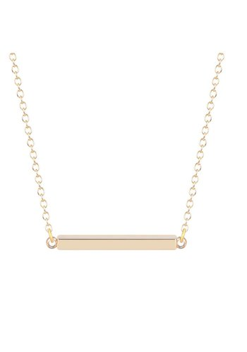 Staafje ketting goud