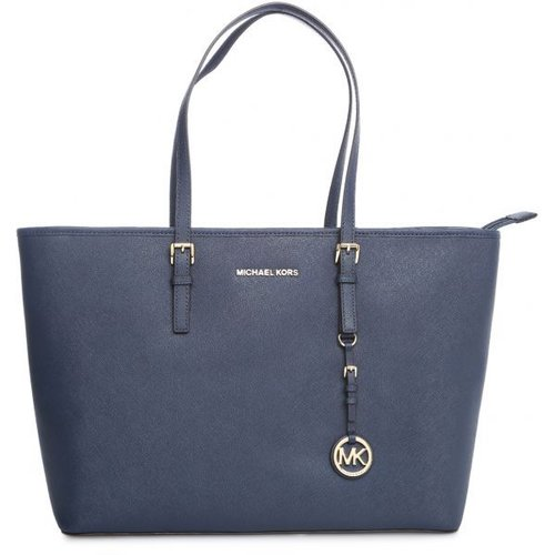 Michael Kors Jet Set Travel Medium TZ Tote Navy 30T5GTVT2L