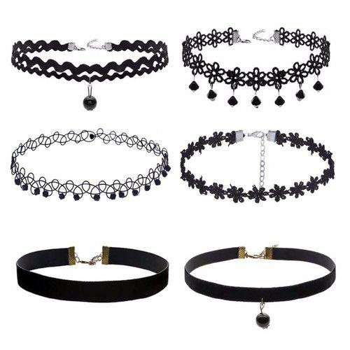 Choker set beads