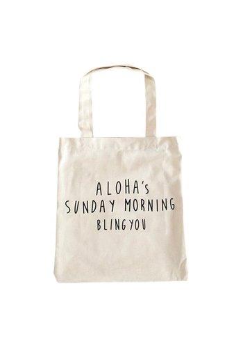 Aloha's Sunday morning Canvas tas wit