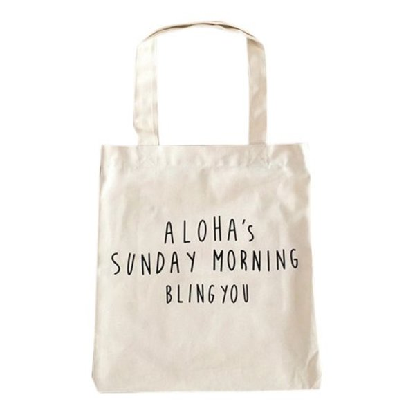 Aloha's Sunday morning Canvas tas wit