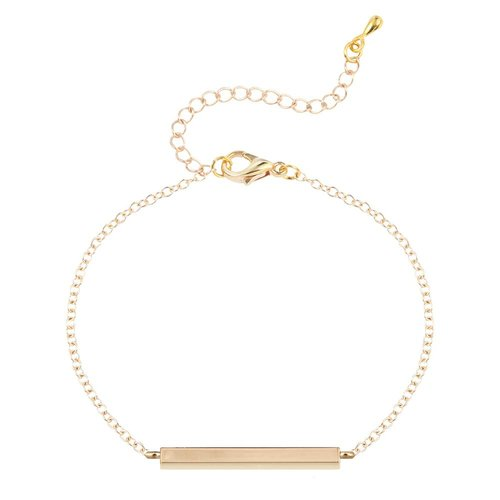 Staafje armband goud
