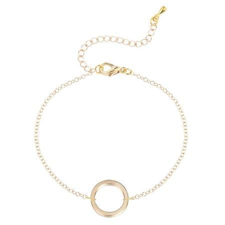 Cirkel armbandje goud