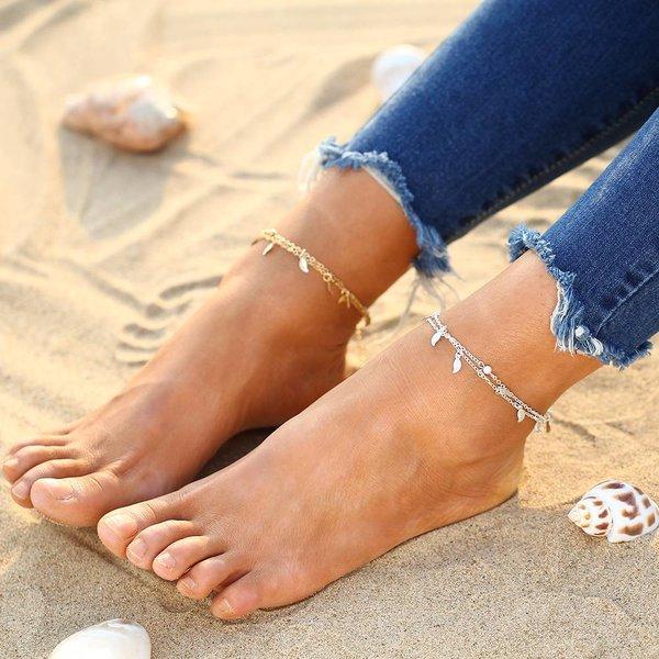 Enkelbandje zilver