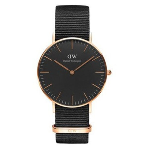 DW00100150 Black Cornwall Roségoud 36mm