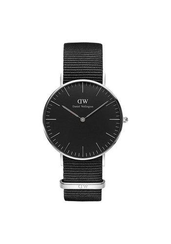 Daniel Wellington DW00100151 Black Cornwall Zilver 36mm