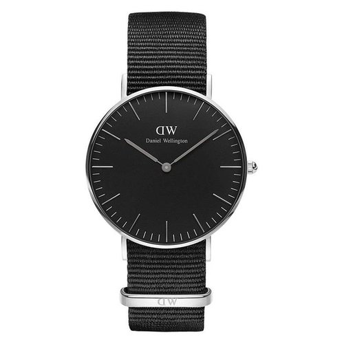 Daniel Wellington DW00100151 Black Cornwall Zilver 36mm