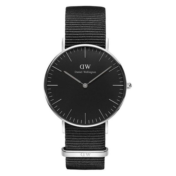 DW00100151 Black Cornwall Zilver 36mm