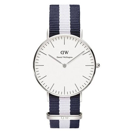 Daniel Wellington DW00100047  Glasgow Zilver 36mm