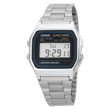 Casio A158WA-1DF Zilver 34mm