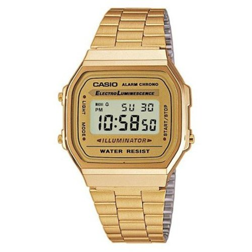 Casio A168WG-9W Retro Vintage Goud 34mm