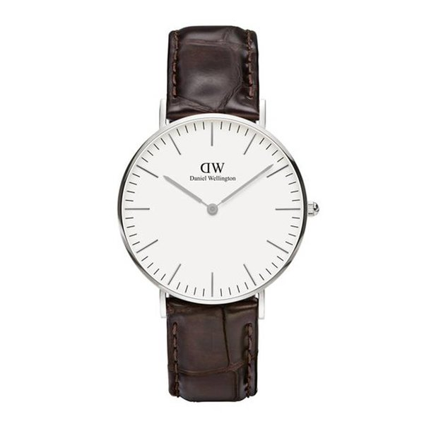 DW00100055 Classic York Zilver 36mm