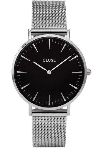 Cluse La Bohème Mesh Silver/Black CL18106 38mm