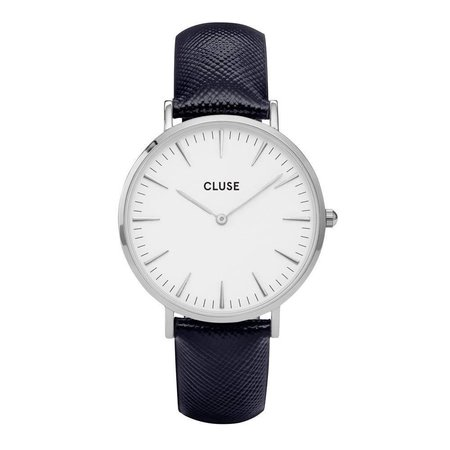 CLUSE  La Bohème Silver White/Midnight Blue CL18232 38mm