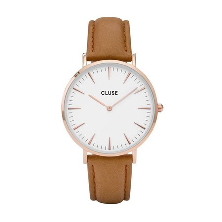 CLUSE  La Bohème Rose Gold White/Caramel CL18011 38mm