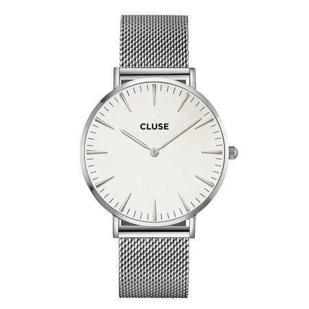 CLUSE  La Bohème Mesh Silver/White CL18105 38mm