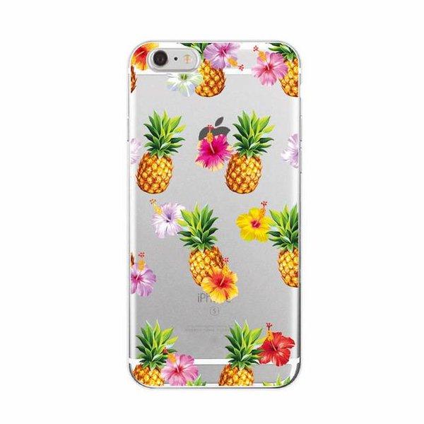 Pineapples & flowers iPhone hoesje
