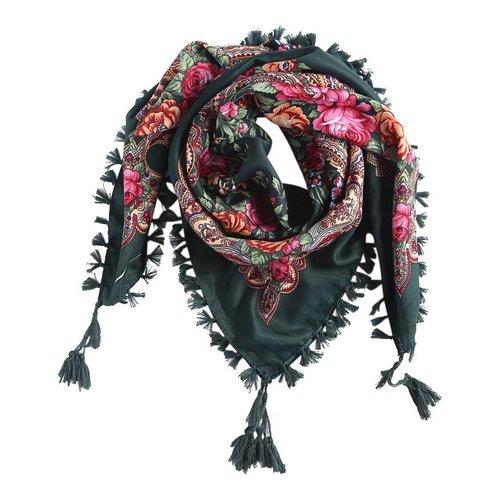 Bohemian sjaal groen