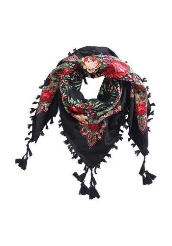 Bohemian sjaal zwart