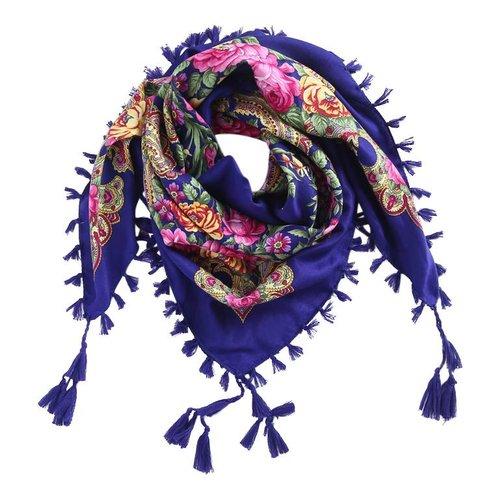 Bohemian sjaal blauw