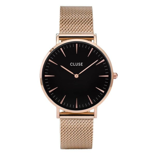 La Bohème Mesh Rose Gold/Black CL18113 38mm