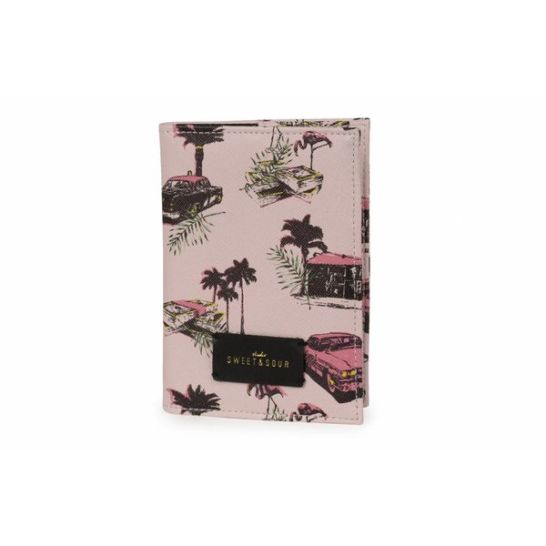 Passport holder / pink cadillac allover