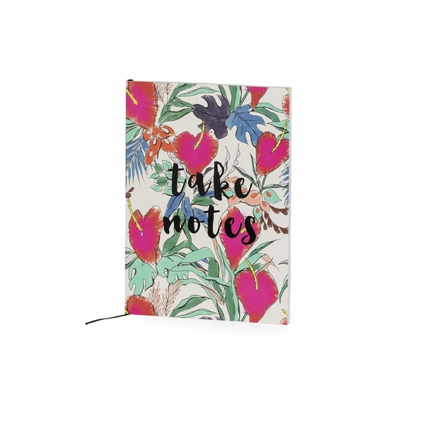 Notebook medium softcover / floral + quote / take notes