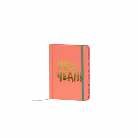 Studio Sweet & Sour  Notebook small hardcover / gold foil stamp / contrast colored edges&band peach