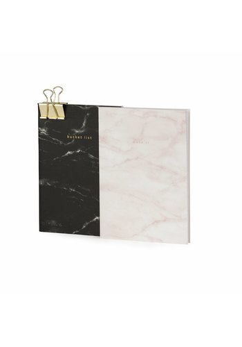 Studio Sweet & Sour Notebook medium softcover / set of 2 / marble / foil stamp / clip