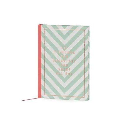 Studio Sweet & Sour  Notebook medium hardcover / gold foil print stamp / stripes