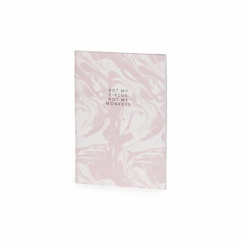 Studio Sweet & Sour  Notebook medium softcover / thread sewn / foil + fluo details / pink