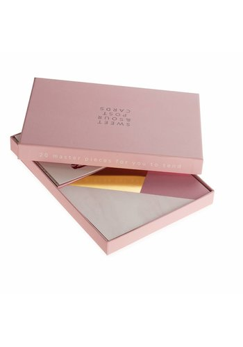 Studio Sweet & Sour  Postcardbox with 20 Sweet & Sour singel post cards (5 designs)