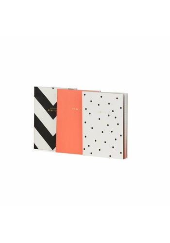 Studio Sweet & Sour Notebook small softcover / set of 3 / thread sewn / foil / fluo