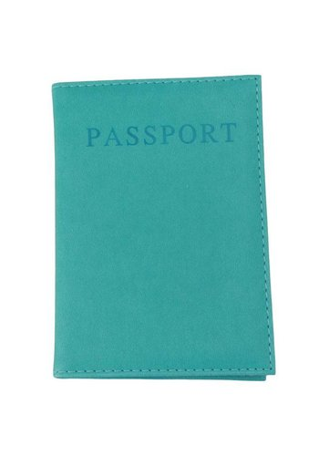 Paspoorthoesje turquoise
