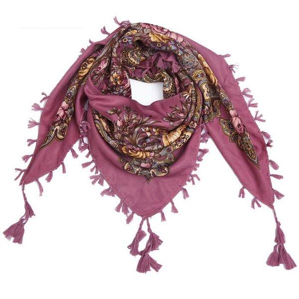 Bohemian sjaal lila