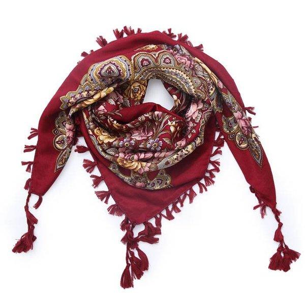 Bohemian sjaal rood