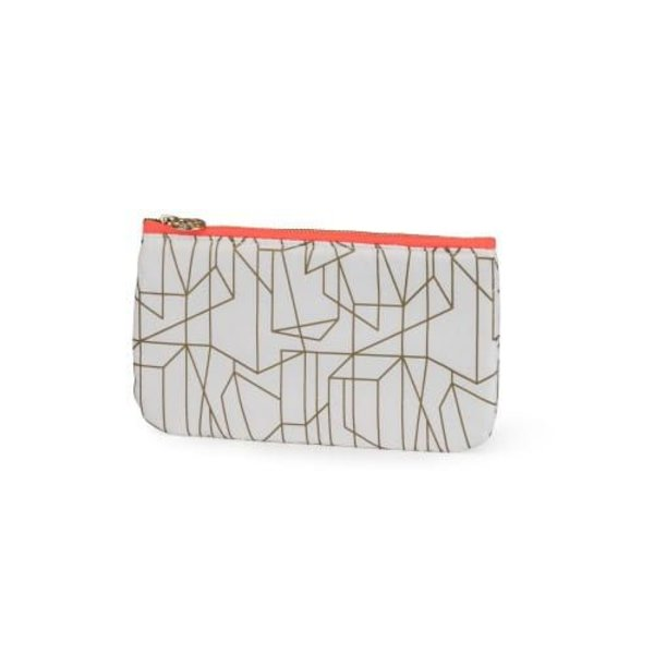 Make-up bag flat small / offwhite gold allover