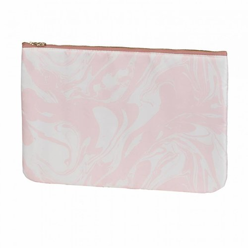 Studio Sweet & Sour  Make-up bag flat large  / pink marble allover / polyester