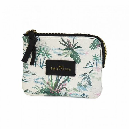 Studio Sweet & Sour  Keychain pouch / green leaves allover