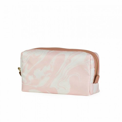 Studio Sweet & Sour  Make-up bag square medium / pink marble allover