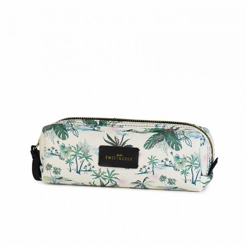 Studio Sweet & Sour  Make-up bag square small / green leaves allover / PU