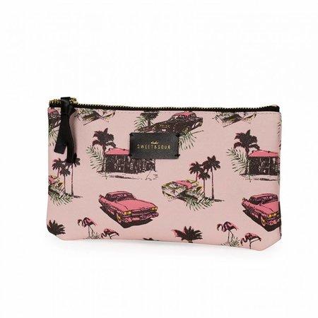 Studio Sweet & Sour  Make-up bag flat / pink cadillac allover / PU