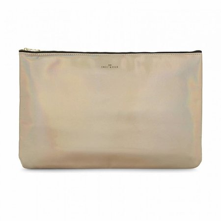Studio Sweet & Sour  Make-up bag flat large  / gold grain / PU