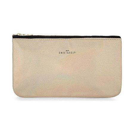 Studio Sweet & Sour  Make-up bag flat small / gold grain / PU