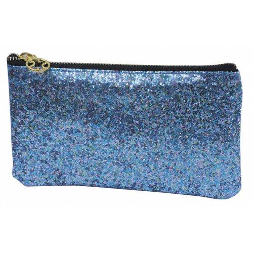 Studio Sweet & Sour  Make-up bag flat small / blue glitter / PU